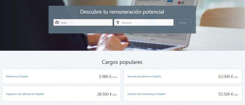 LinkedIn Salary - Pantalla inicial