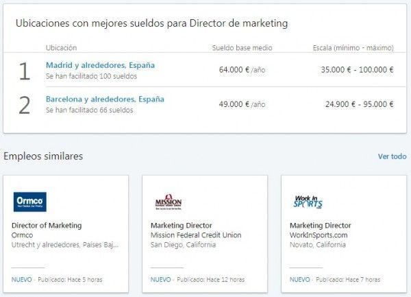 LinkedIn Salary - Ranking ubicaciones con mejores sueldos y empleos similares
