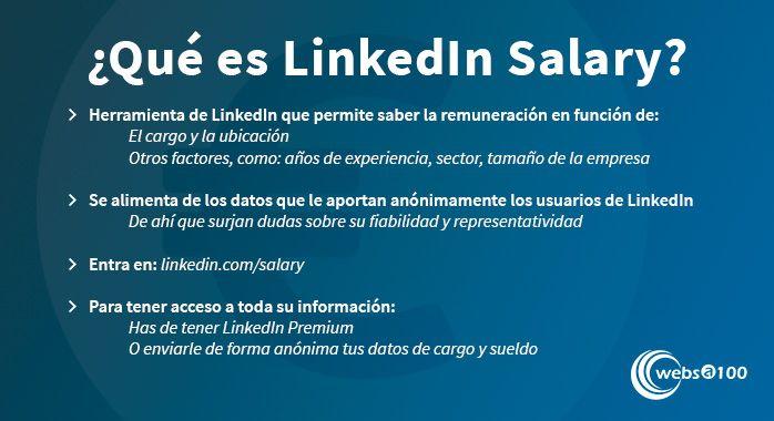 Qué es LinkedIn Salary - Infografía