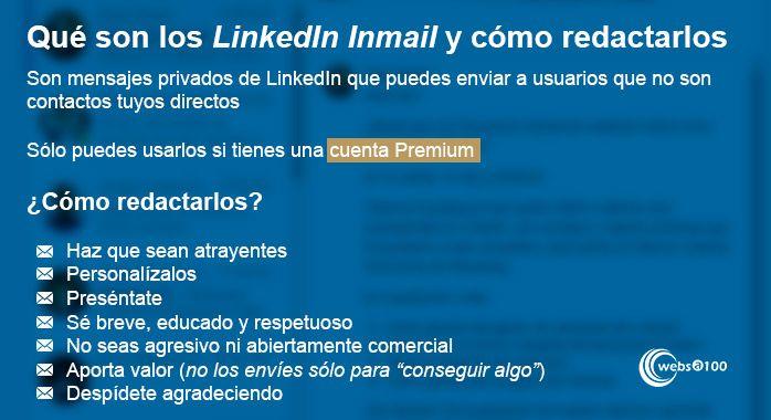 Qué son los LinkedIn Inmail y cómo redactarlos - Infografía
