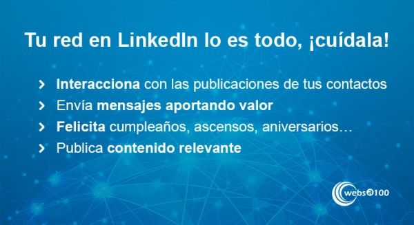 Cuida tu red en LinkedIn - Infografía