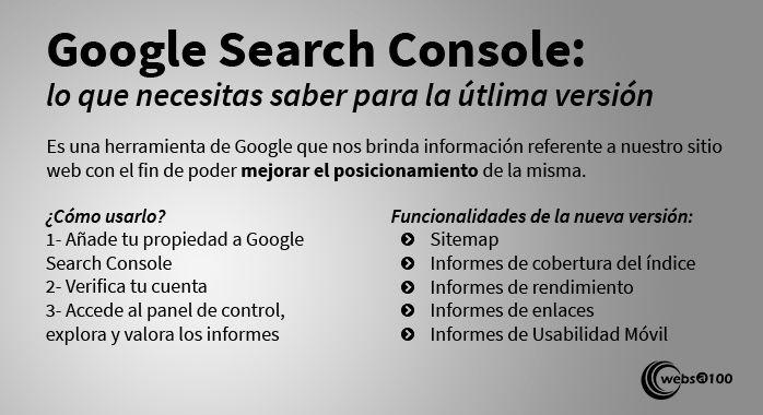 Google Search Console última versión