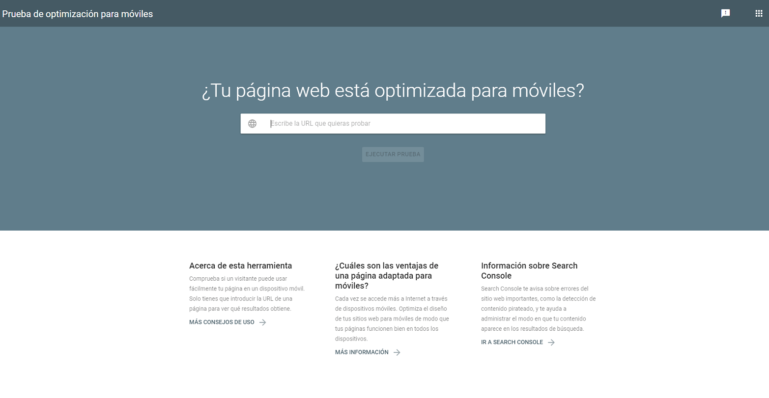 optimizacion web: mobile first index