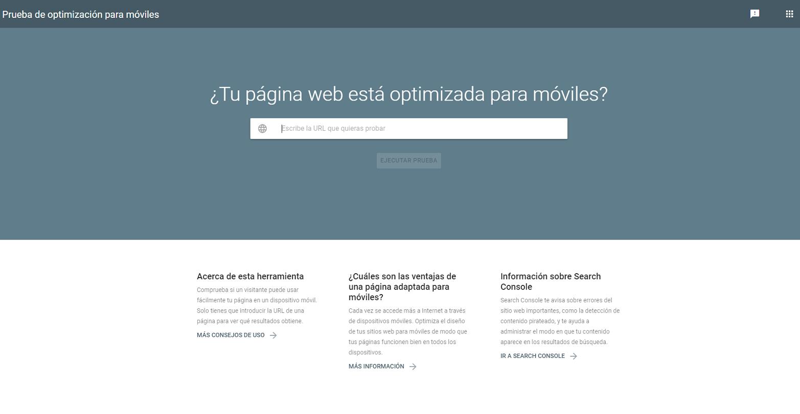 optimizacion web: mobile first index