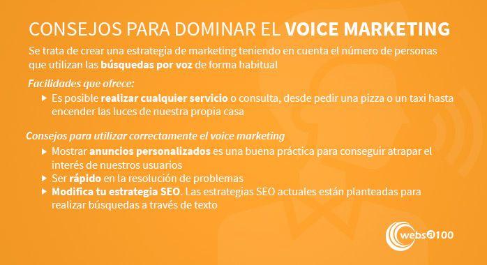 Consejos voice marketing infografía