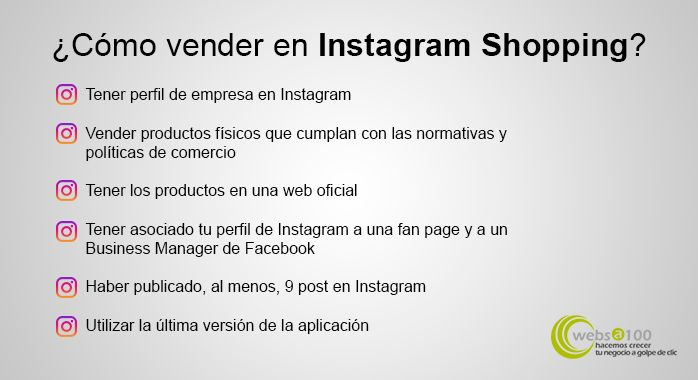 como vender instagram shopping infografia