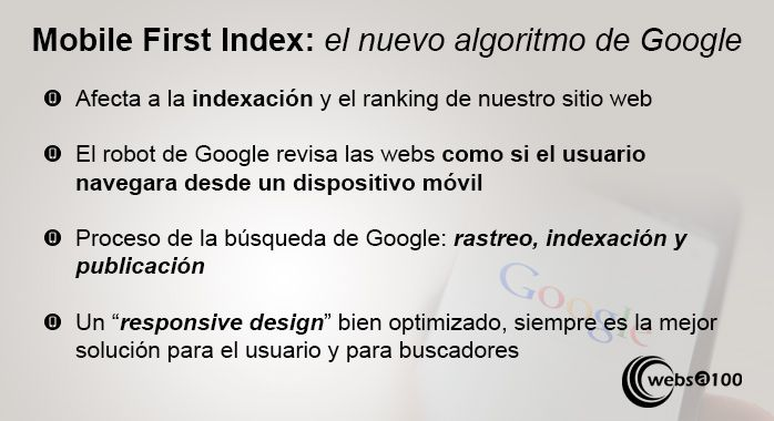 mobile first index algoritmo google
