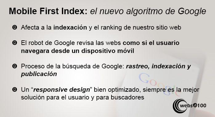mobile first index algoritmo google