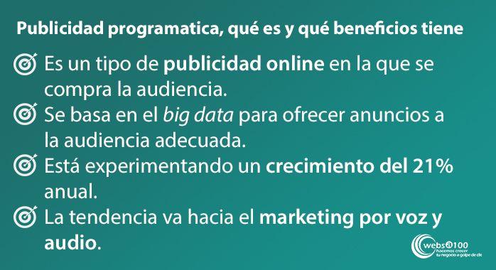 publicidad programática que es y que beneficios tiene infografia
