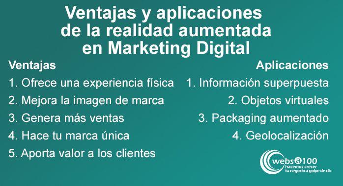 Ventajas y aplicaciones de la realidad aumentada en Marketing Digital