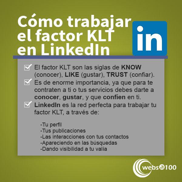 El factor KLT en LinkedIn - Infografía