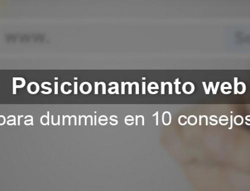 Posicionamiento web para dummies en 10 consejos