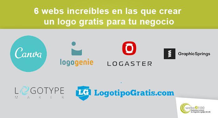 6 webs increíbles en las que crear un logo gratis para tu negocio infografía