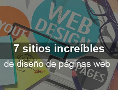 7 sitios increíbles de diseño de páginas web