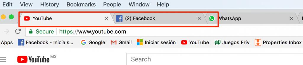 Pestañas del navegador