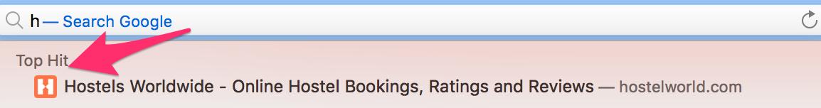 Recomendaciones sobre la barra de búsqueda