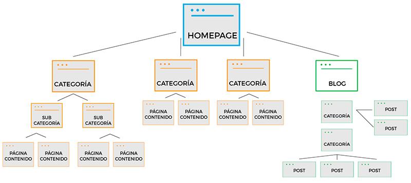 estructura sitio web