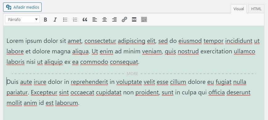 Tu publicación se dividirá mostrando las palabras 'MÁS' y el texto que estará oculto a continuación