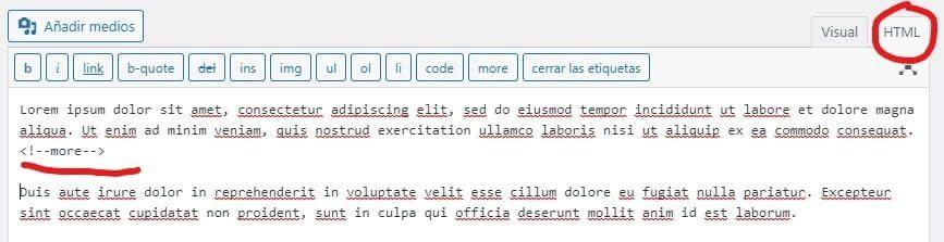 elija la opción HTML para agregar un botón
