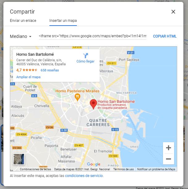 Añade Google Maps a tu sitio