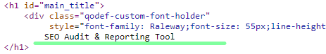 h1 tag on page source