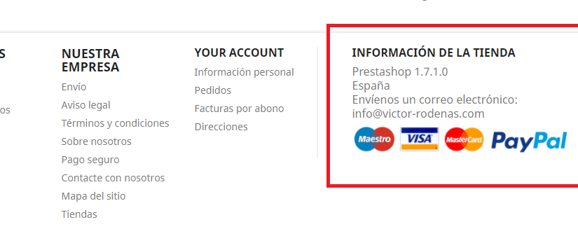 payment info footer